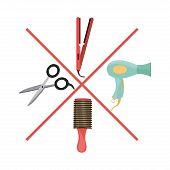 stock photo of barbershop  - Barbershop icons design  - JPG