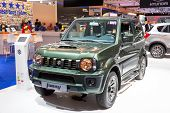 stock photo of jimmy  - AMSTERDAM - APRIL 16 2015: Suzuki Jimny at the AutoRAI 2015. ** Note: Visible grain at 100%, best at smaller sizes - JPG