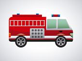 image of fire truck  - fire truck graphic design  - JPG