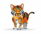 picture of tiger cub  - Illustration of cute little tiger cub robot - JPG