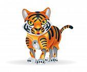 foto of cute tiger  - Illustration of cute little tiger cub robot - JPG