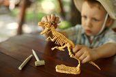 foto of boy scouts  - little boy wants to be an archaeologist - JPG