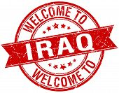 foto of iraq  - welcome to Iraq red round ribbon stamp - JPG
