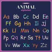 picture of zoo animals  - Cute vector zoo alphabet with cartoon and funny animals in vector - JPG