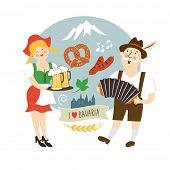 picture of lederhosen  - Oktoberfest label - JPG