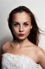 pic of freckle face  - Beautiful Teenage Model girl with freckles on face - JPG