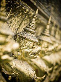 stock photo of garuda  - Grand palace Garuda Wat Phra Kaew Bangkok Thailand - JPG