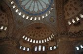 stock photo of mosk  - ceiling and cupola of the blue mosque in istanbul - JPG