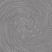 Psychedelic Square Background With Circular Black And White Swirl, Helix Or Twist. Backdrop With Rou poster