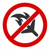 No Aviation Accidents Raster Icon. Flat No Aviation Accidents Pictogram Is Isolated On A White Backg poster