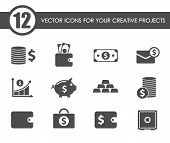 Finance Icon Set. Finance Web Icons For Your Project poster