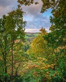 Autumn View From Morralee Wood, In Allen Banks And Staward Gorge In The English County Of Northumber poster