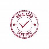 Halal Food Red Grunge Round Vintage Rubber Stamp.halal Food Stamp.halal Food Round Stamp.halal Food  poster