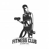 Fitness Vector Logo Design Template,design For Gym And Fitness Vector. Fitness Club Logo With Exerci poster