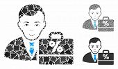 Tax Accounter Mosaic Of Rugged Pieces In Different Sizes And Color Tones, Based On Tax Accounter Ico poster
