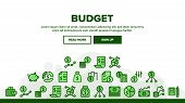 Budget Audit Landing Web Page Header Banner Template Vector. Dollar And Coin, Accounting Budget Repo poster