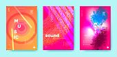 Dj Beats. Audio Circle. Trendy Music Banner. Bright Electronic Sound Festival. Neon Dj Party. Wave E poster
