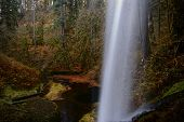 Behind A Waterfalls Trail In Silver Falls State Park Near Salem In Oregon. Pacific Northwest. United poster