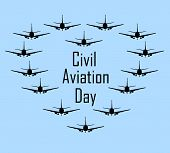 International Civil Aviation Day. Logotypes For A Passenger Transportation Company. Aeroflot Airplan poster