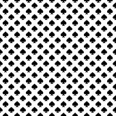 Seamless Geometric Spades Pattern. Repeating Geometric Spades Symmetric Ornament. Tiled Back. Repeat poster