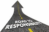 Road to Responsibility Duty Obligation Words 3d Illustration poster