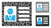 Account Card Mosaic Of Trembly Items In Different Sizes And Color Tinges, Based On Account Card Icon poster
