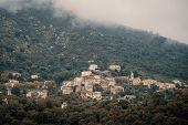 Village Of Nessa In Corsica poster