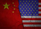 The Conflict Between The Usa And China. The Economic War Between China And The U.s. poster