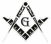 stock photo of mason  - Freemasonry emblem  - JPG