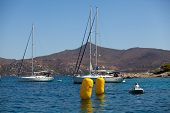 SARONIC GULF, GREECE - SEPTEMBER 27: Competitors boats during of sailing regatta