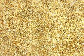 Many festive golden decoration pieces background