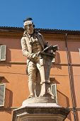 image of physicist  - Luigi Galvani statue in Bologna Italy - JPG