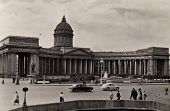 LENINGRAD, USSR - CIRCA 1962: Kazan Cathedral.  Circa 1962 in Leningrad (now Saint Petersburg) USSR