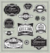 vector vintage labels frames and design elements