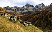 Walser Village (ayas Valley, North Italy)