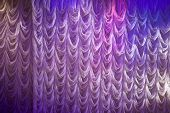 Illuminated White Curtain Background Texture