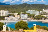 Scenic View Of Paguera Beach In Majorca