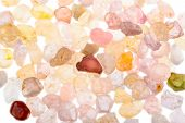 picture of uncut  - Natural red yellow green violet and pink spinel Crystals - JPG