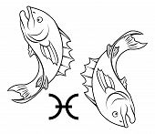 stock photo of pisces horoscope icon  - Illustration of Pisces the fish zodiac horoscope astrology sign - JPG
