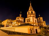 picture of epiphany  - Cathedral of the Epiphany Irkutsk Russia at night - JPG