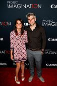 NEW YORK- OCT 24: Director Max Joseph (R) and Priscilla Joseph attend the premiere of Canon's 'Proje