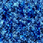 Seamless pattern. Vector triangle mosaic pattern.
