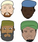 Muslim Men With Beards
