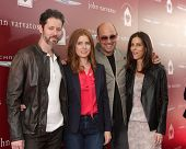 LOS ANGELES - APR 13: Darren Le Gallo, Amy Adams, John Varvatos, Joyce Varvatos at the John Varvatos