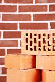 New bricks on brick wall background