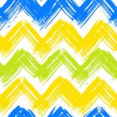 Chevron pattern hand painted with bold brushstrokes