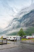 picture of motorhome  - Campsite on the Geiranger fjord - JPG