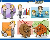 image of lobbyist  - Concept Cartoon Illustration Set of Funny Men or Businessmen Characters and Business Metaphors - JPG