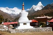 Ama Dablam Lhotse And Top Of Everest From Tengboche - Way To Everesr Base Camp - Khumbu Valley - Nep