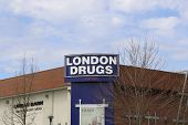 Coquitlam BC Canada - April 14 2014 : London Drugs is a chain of Canadian retail stores with headqua